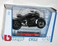 Burago - DUCATI XDIAVEL S (Black) Motorcycle Model Scale 1:18