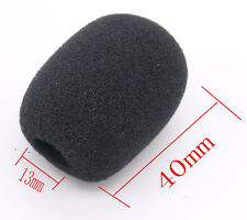 10pcs Pack Handheld Stage Microphone Headset Windscreen Foam Mic Cover 40x12 mm