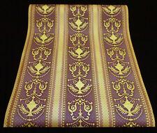 8868-73-5) 6 Rollen hochwertigse Satin Tapeten mit edlem Dekor lila gold