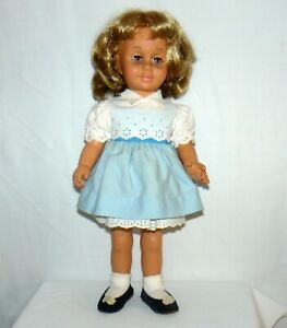 Mattel 1960 1998 Chatty Cathy Talking Doll Pink Eyes Rare Mexico
