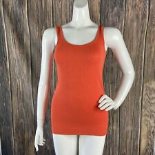 Cabi Layering Tank Top Orange Small Solid Stretchy Soft Small Casual 5069