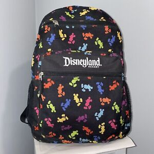 Walt Disneyland Resorts Parks Authentic Multi Color Mickey Mouse Backpack