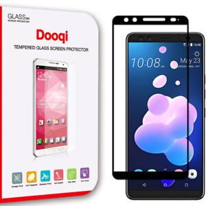 Dooqi Full Cover Tempered Glass Screen Protector Saver Shield For HTC U12 Plus