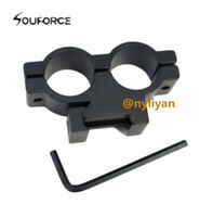 Dual 20mm Ring 20mm Rail Picatinny Weaver Mount for Scope Sight Torch Rifle Hunt