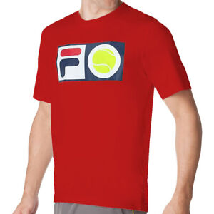FILA MEN'S F-BALL TENNIS CREW TEE, NEW WITH TAGS, 100% POLYESTER