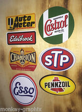 7er US Oldschool Cars Set Sticker / Aufkleber Chevy, Dodge GM Hot Rod Rockabilly