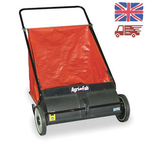 "AgriFab Push Lawn Leaf Sweeper Grass Collector 26"" 45-0218 No Engine Manual Walk"