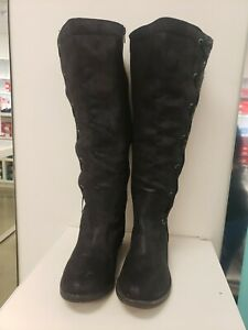Womens black knee high boots size 7