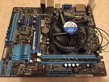 Asus p8h61-m le/csm r2.0 motherboard with cpu, 8gb ram and faceplate