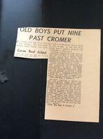 M5-3 Ephemera 1967 Nov Football Report C N S Old Boys 9 Cromer 2