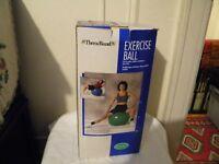 "Thera-Band Exercise Ball - 25.6""/65 cm. - Green - made in USA  -  NIB"