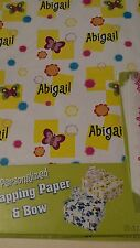 Personalized gift wrap wrapping spring butterflies Nip Abigail