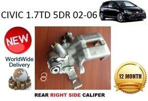 HONDA CIVIC 1.7 TD 5DR 02-06 REAR BRAKE CALIPER NEW RIGHT 43018S6MA01