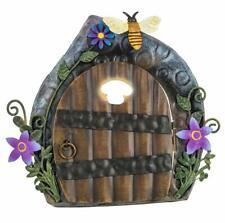 Fountasia Mignon Porte Fées avec Abeille Métal Jardin Décoration Tige de Cadeau