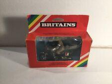 1980s Vintage Britains 9672 British Despatch Rider Mint In Box