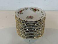 Vtg Johann Haviland Bavaria Porcelain Moss Rose Set of 12 Fruit / Dessert Bowls