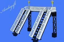 NEW LEGO footbridge for train station or road  railway bridge  train set