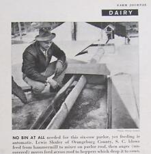 Origninal 1958 Dairy Ad Photo features Lewis Shuler of Orangeburg County SC