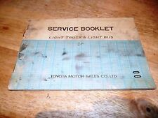 Toyota Motor Sales Co Ltd-Light Truck & Light Bus-Service Booklet-S8701-1972-Fab