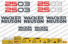 Neuson 2503 ESCAVATORE CON Decalcomanie Adesivo Set