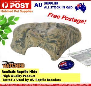 Realistic Reptile Hide Reptile Cave Snake Lizard hide Reptile Enclosure Decor M