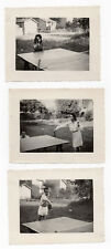 PHOTO Ancienne Ping Pong Sport collectif Table Raquette Vers 1950 Jeu Partie de