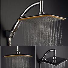 "Large 9"" High Pressure Rain Shower Head Chrome Bath Powerful Energy Water Saving"