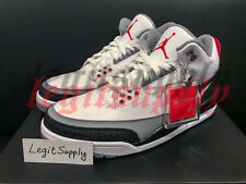 SHIP NOW Nike Air Jordan 3 Retro Tinker Hatfield NRG 8-13 White Red AQ3835