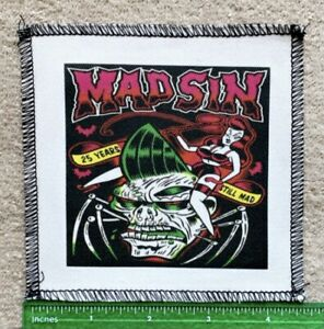 25 Years Still Mad Madsin Band Sew On Patch