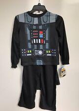 Darth Vader Pajama Costume PJ Pals Star Wars Disney Detachable Cape Size 6 NWT