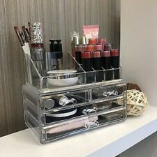 Acrylic Makeup Organizer Cosmetic Case Jewelry Holder Clear Drawers Storage Box