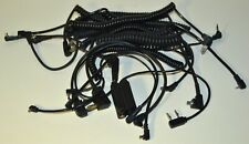 LOT of 12 CAMERA CABLES for FLASH SYNC and BATTERY PACK, BRAUN, LEITZ/LEICA +