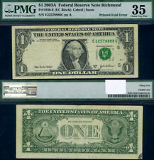 FR. 1930 E $1 2003-A Federal Reserve Note Richmond Large Choice PMG VF35