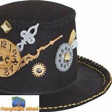 Steampunk Mini Top Hat Cogs Brass Historical Adult Fancy Dress Accessory