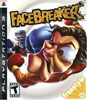 PS3 FaceBreaker Video Game Playstation NTSC T418