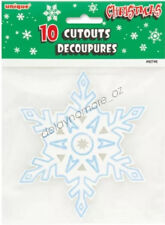 Disney Frozen Themed Party Supplies 10pcs Snowflake Cutouts Decoration Christmas