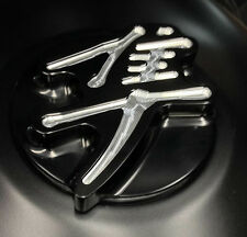 Hayabusa Custom Huge Smooth 3D Black/Silver Engraved Fuel/Gas Cap 99-02-03-05-07