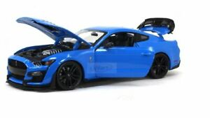 Maisto 2020 Ford Mustang Shelby GT500 Die Cast Car Model 1:18 Scale Blue new