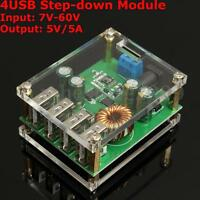 1-4x DC 7-60V To 5V 5A 4USB Output Buck Converter Step-down Power Supply Module