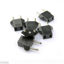 5Pc USA/Australia US/AU to EUROPE EU Power Plug Converter Travel Adapter 250V 6A