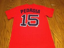 BOSTON RED SOX DUSTIN PEDROIA #15 JERSEY STYLE T-SHIRT-ADULT SM SECOND BASEMAN