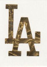 GOLD LEAF Los Angeles Dodgers 2 inch helmet decal sticker RTIC window LA