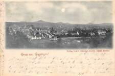Rarität Foto AK 1897 Gruss aus Göppingen Teilansicht Stadtansicht Mondschein