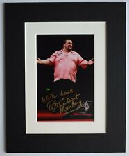 Peter Manley Signed Autograph 10x8 photo mount display Darts Sport AFTAL COA