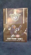Tampa Bay Lightning 2014 Stanley Cup Playoffs Program First Round Game 1