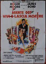 MANIFESTO, 007 VIVI E LASCIA MORIRE Live and Let Die BOND POSTER AFFICHE (leggi)