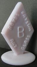 Boyd Art Glass ~ Company Dealer Sign in Light Pink Milkglass