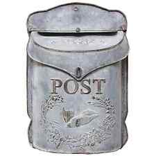 Vintage style Country Tin Mail Box Galvanized Decorative