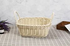 Large Two Handle Synthetic Wicker Basket - Home Log Newspaper Fruit Storage