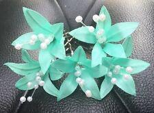5wedding Prom Brillante Perfecto Flor del lirio Hair Pins Clips Grips Hecho A Mano